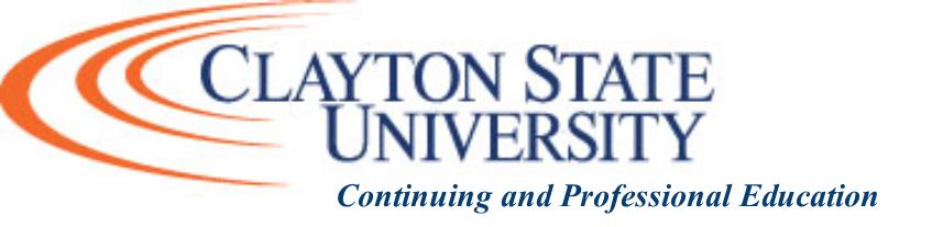 Clayton State University  Continuing Education